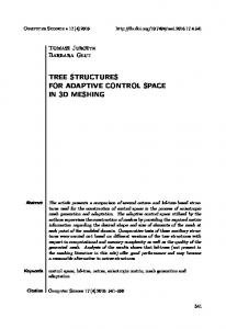 tree structures for adaptive control space in 3d meshing