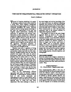 Tree water requirements & regulated deficit irrigation