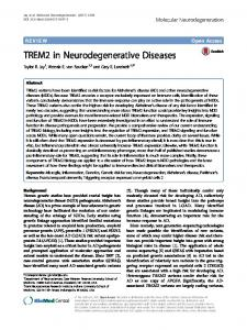 TREM2 in Neurodegenerative Diseases - Semantic Scholar
