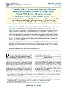 Trend of Clinical Outcome and Surrogate Markers During ... - J-Stage