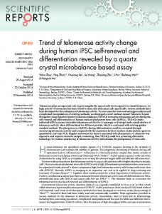 Trend of telomerase activity change during human