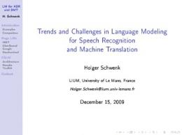 Trends and Challenges in Language Modeling for ... - Semantic Scholar