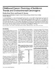 Trends and Environmental Carcinogens - BioMedSearch