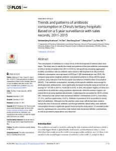 Trends and patterns of antibiotic consumption in