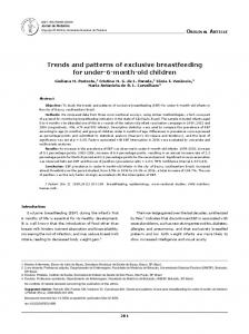 Trends and patterns of exclusive breastfeeding for