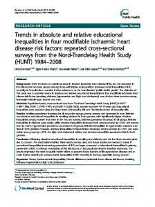 Trends in absolute and relative educational ... - Semantic Scholar