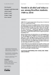 Trends in alcohol and tobacco use among Brazilian students - SciELO