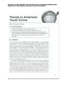 Trends in American Youth Crime