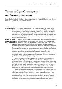 Trends in Cigar Consumption and Smoking Prevalence