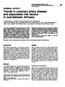 Trends in coronary artery disease and associated risk factors ... - Nature