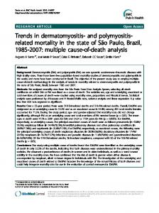 Trends in dermatomyositis - Semantic Scholar