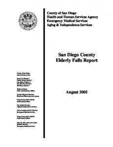 trends in falls - San Diego - County of San Diego