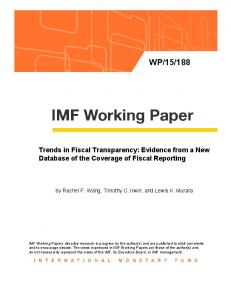Trends in Fiscal Transparency - IMF