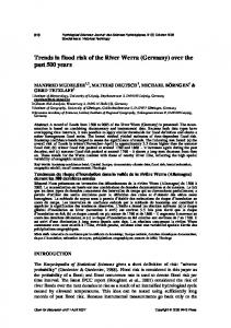 Trends in flood risk of the River Werra (Germany) - Manfred Mudelsee