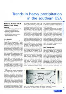 Trends in heavy precipitation inthe southern USA - Wiley Online Library