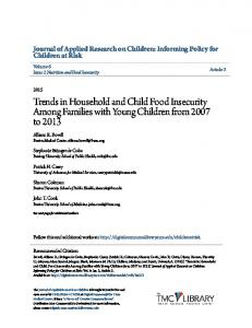 Trends in Household and Child Food Insecurity Among Families with ...