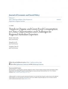 Trends in Organic and Green Food Consumption in China ...