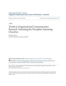 Trends in Organizational Communication Research - Semantic Scholar