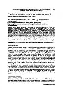 Trends in precipitation extremes and long-term memory of ... - Core