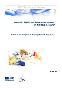 Trends in Public and Private Investments in ICT R&D in Taiwan