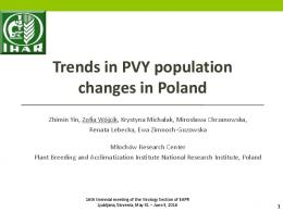 Trends in PVY population changes in Poland
