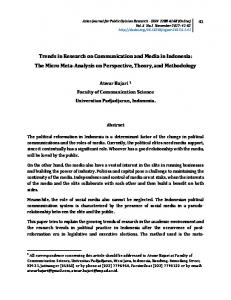 Trends in Research on Communication and Media in Indonesia: The