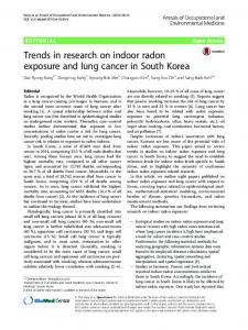 Trends in research on indoor radon exposure and ... - Semantic Scholar