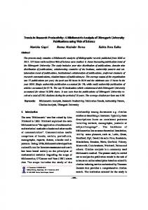 Trends in Research Productivity: A Bibliometric