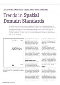 Trends in Spatial Domain Standards