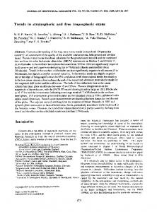 Trends in stratospheric and free tropospheric ... - Wiley Online Library