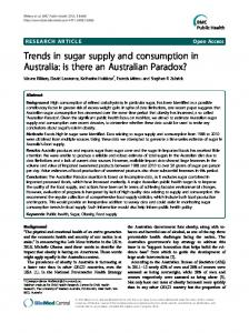 Trends in sugar supply and consumption in ... - BMC Public Health