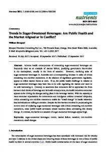 Trends in Sugar-Sweetened Beverages: Are Public Health and ... - MDPI