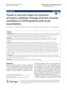 Trends in use and impact on outcome of empiric antibiotic therapy and ...