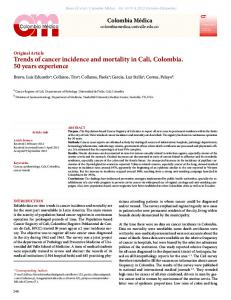 Trends of cancer incidence and mortality in Cali ... - SciELO Colombia