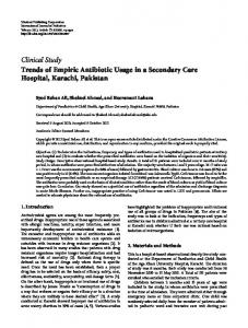 Trends of Empiric Antibiotic Usage in a Secondary Care Hospital ...