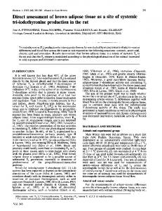 tri-iodothyronine production in the rat
