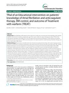 TRial of an Educational intervention on patients' knowledge of ... - PLOS