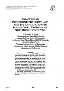 triangular intuitionistic fuzzy ahp and its application to ...