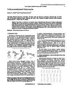 Trifluoromethylated Heterocycles