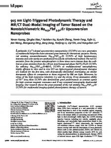 Triggered Photodynamic Therapy and MR/CT ... - Wiley Online Library