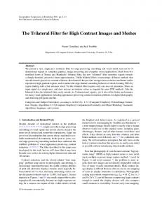 Trilateral Filter - Computer Science - Northwestern University
