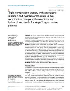 Triple combination therapy with amlodipine, valsartan ... - CiteSeerX
