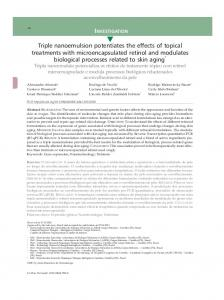 Triple nanoemulsion potentiates the effects of topical treatments with