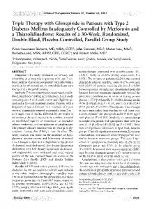 Triple Therapy with Glimepiride in Patients with Type 2 Diabetes ...