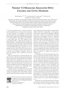 Trisomy 13 Mosaicism Associated With Cyclopia and Cystic ... - Core