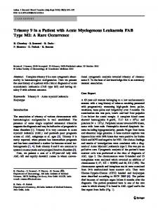 Trisomy 9 in a Patient with Acute Myelogenous ... - Springer Link