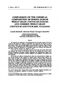 (triticum durum) and common wheat grain