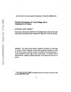 Trivial Extensions of Local Rings and a Conjecture of Costa