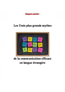 Trois plus Grands Mythes de la communication efficace en langue ...