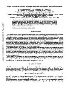 Trojan Horse as an indirect technique in nuclear astrophysics ...